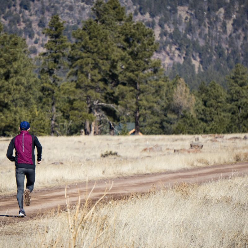 A member of the Running Project on a workout at Buffalo Park in Flagstaff.